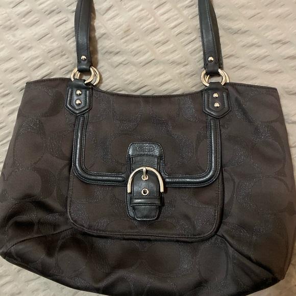 Coach Handbags - COACH Madison Bag Black on Black